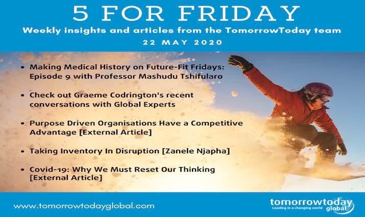 Five for Friday: 22 May 2020