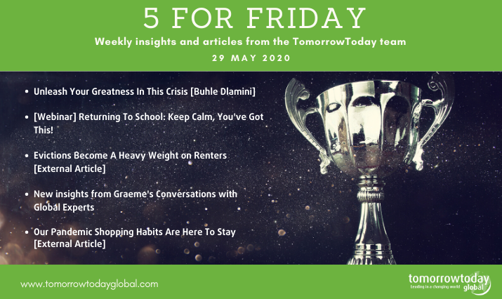 Five for Friday: 29 May 2020