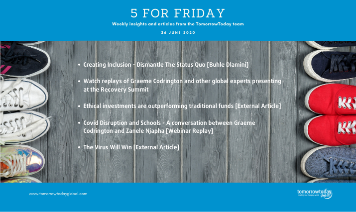 Five for Friday: 26 June 2020