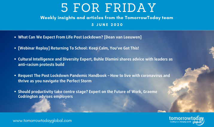 Five for Friday: 5 June 2020