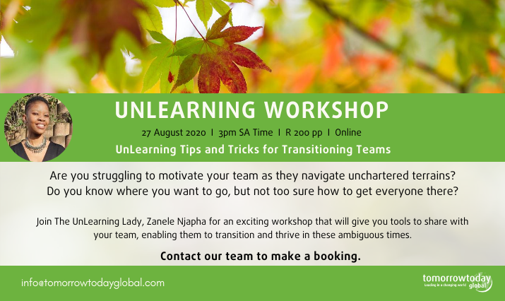 tuesday tip unlearning workshop