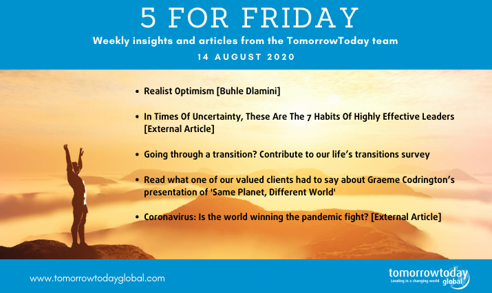 Five for Friday: 14 August 2020