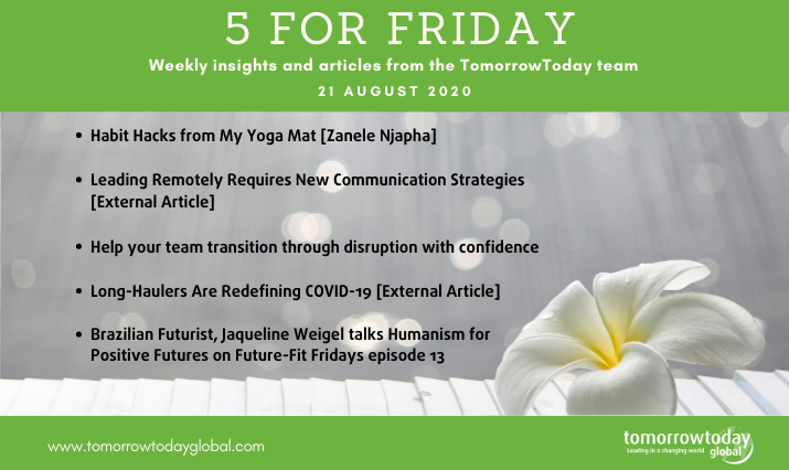 Five for Friday: 21 August