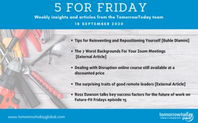 Five for Friday: 18 September :)