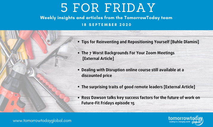 Five for Friday: 18 September :)