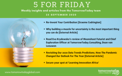 Five for Friday: 25 September