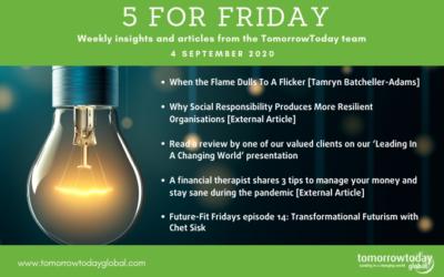 Five for Friday: 4 September 2020