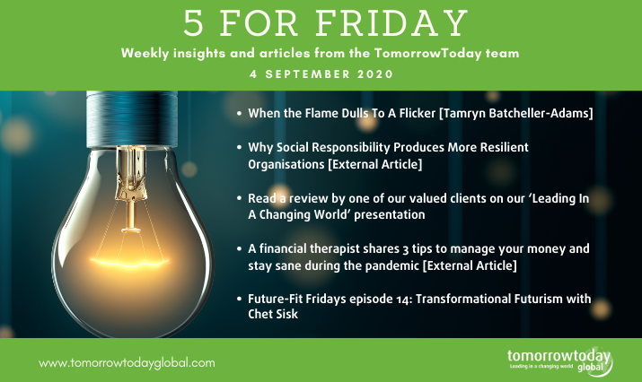 Five for Friday: 4 September 2020