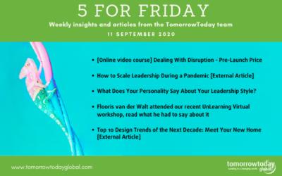 Five for Friday: 11 September