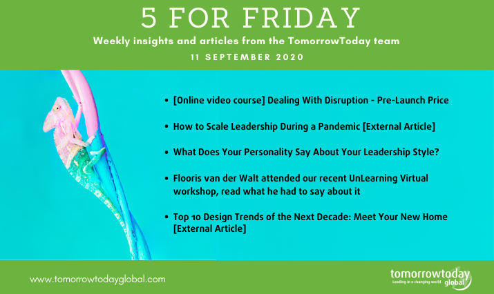 Five for Friday: 11 September