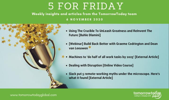 Five for Friday: 6 November