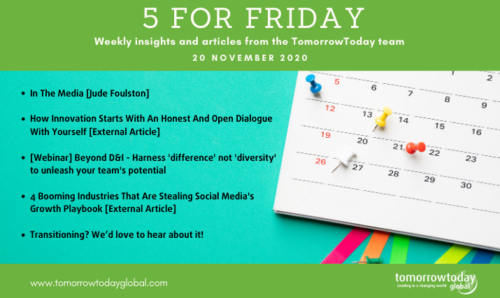 Five for Friday: 20 November