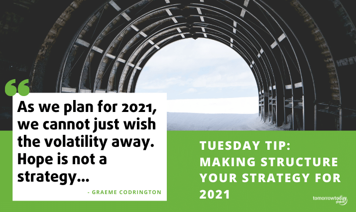 Vaccines, Elections, Brexit… and that's just a few weeks – Structure is your strategy in 2021