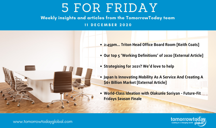 Five for Friday: 11 December