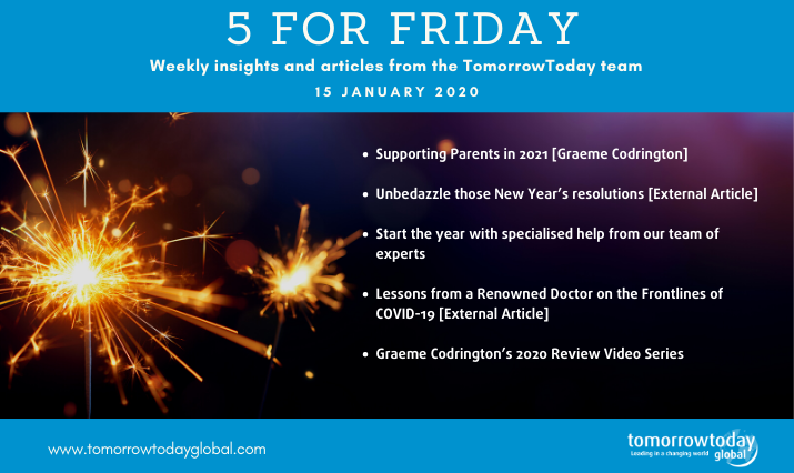 Five for Friday: 15 January