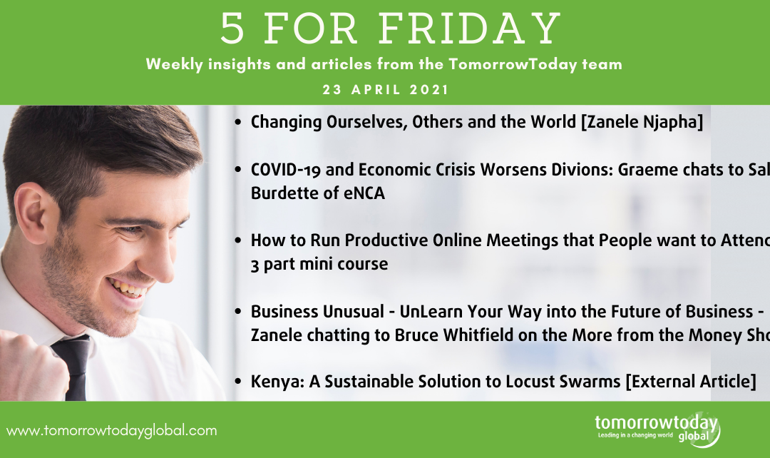 Five for Friday: 23 April 2021