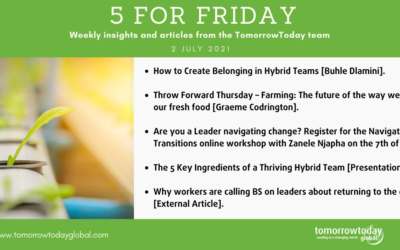 Five for Friday: 2 July 2021