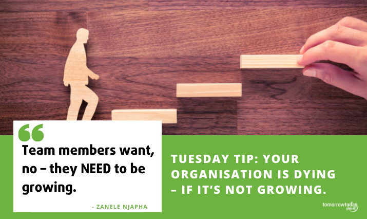 Tuesday Tip: Your Organisation is Dying – if it's not growing. Why progress is not only exciting, but necessary for survival.