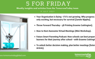 Five for Friday: 9 July 2021