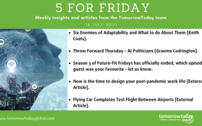 Five for Friday: 16 July 2021