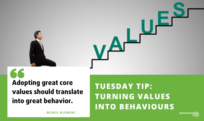 Tuesday Tip: Turning Values into Behaviours