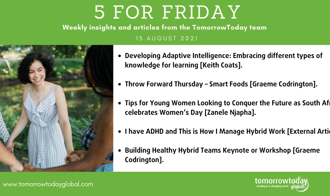 Five for Friday: 13 August 2021