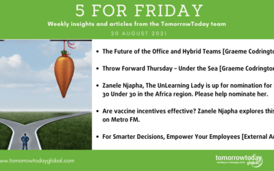 Five for Friday: 20 August 2021