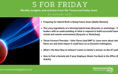 Five for Friday: 27 August 2021