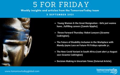 Five for Friday: 3 September 2021