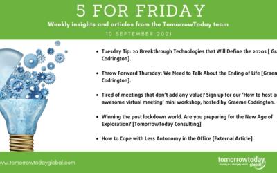 Five for Friday: 10 September 2021