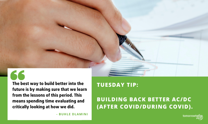 Tuesday Tip: Building Back Better AC/DC (After Covid/During Covid).