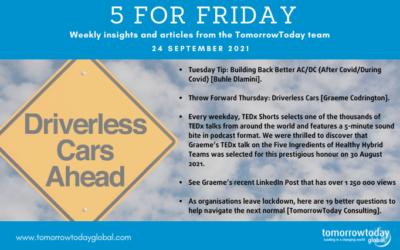 Five for Friday: 24 September 2021