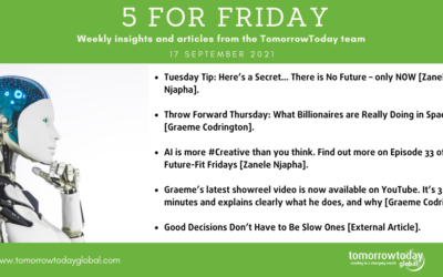 Five for Friday: 1 October 2021