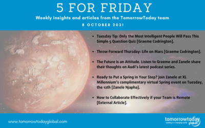 Five for Friday: 8 October 2021