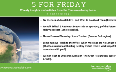 Five for Friday: 15 October 2021